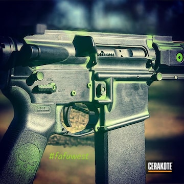 Cerakoted Custom Dpms With Zombie Green And Graphite Black