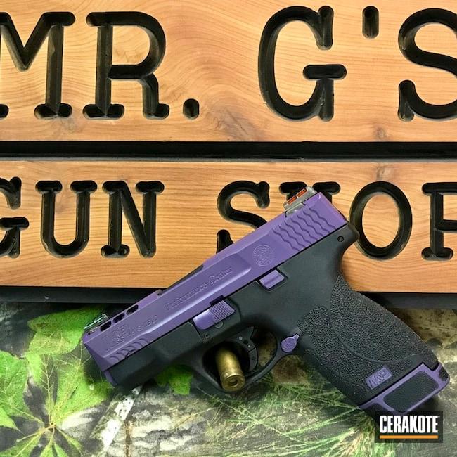 Cerakoted: Graphite Black H-146,Bright Purple H-217,Two Tone,Smith & Wesson,Smith & Wesson M&P,Pistol