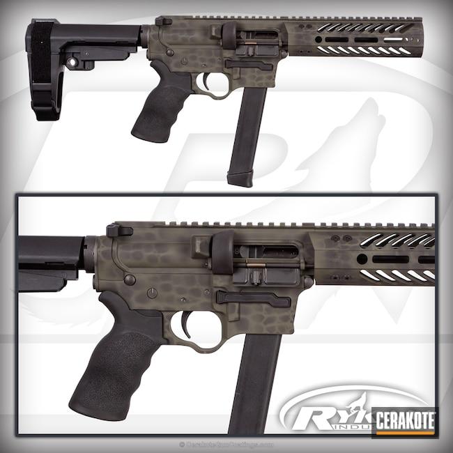 Cerakoted: Glock Mag,Sniper Green H-229,Graphite Black H-146,Gator Plate,9mm AR pistol,SB Tactical