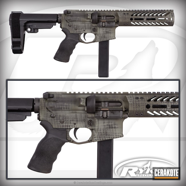 Aero Precision AR Pistol in a Net Camo Finish