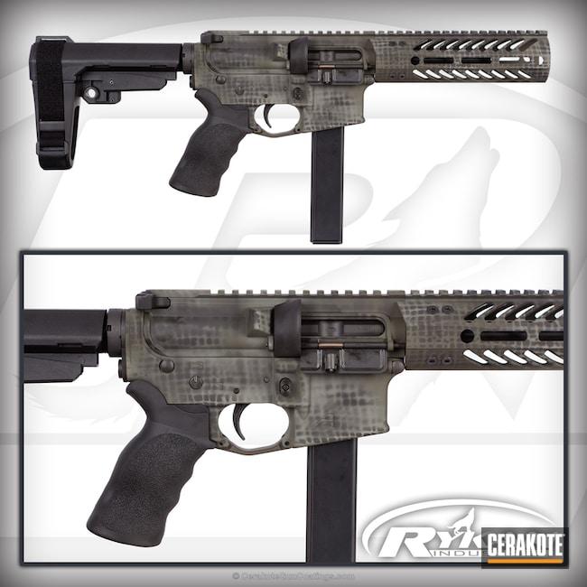 Cerakoted: Aero Precision,RRA,AR Pistol,Net Camo,Sniper Green H-229,Graphite Black H-146,Seekins Precision Handguard,Tactical Rifle,9mm AR pistol,SB Tactical,MAGPUL® FOLIAGE GREEN H-231