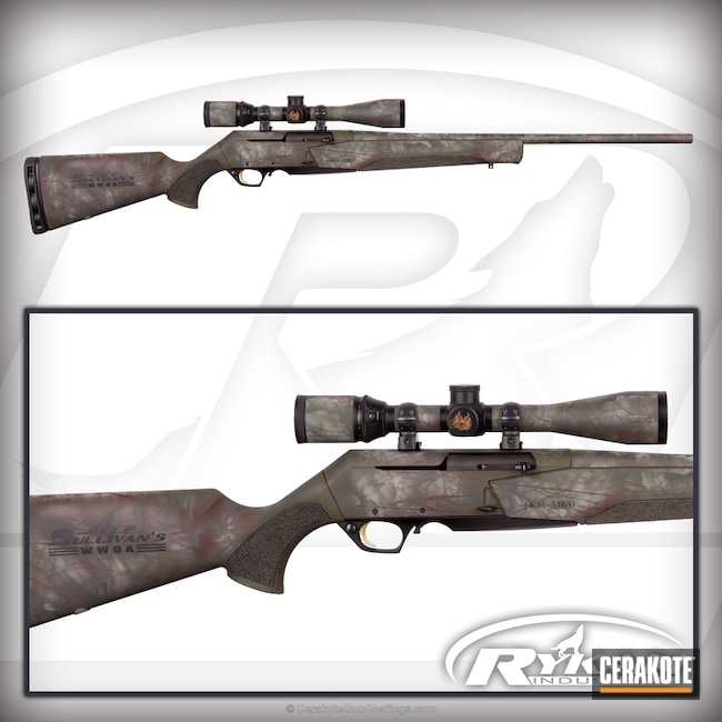 Cerakoted: Bolt Action Rifle,Desert Sage H-247,Sniper Green H-229,Graphite Black H-146,BARRETT® BRONZE H-259,Browning,Jeep Sullivan Wounded Warrior Outdoor Adventures,Havoc,Nikon Scope