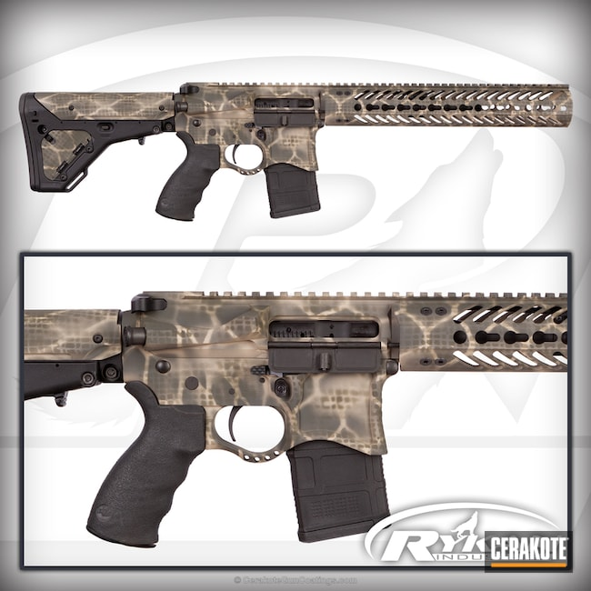 Seekins AR-15 Rifle Build in a Custom Cerakote Net Camo Finish