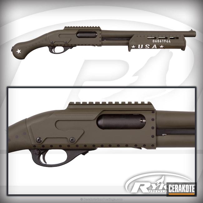 Cerakoted: Stone Grey H-262,Remington Tac-14,Graphite Black H-146,Military Theme,Mil Spec O.D. Green H-240,Remington