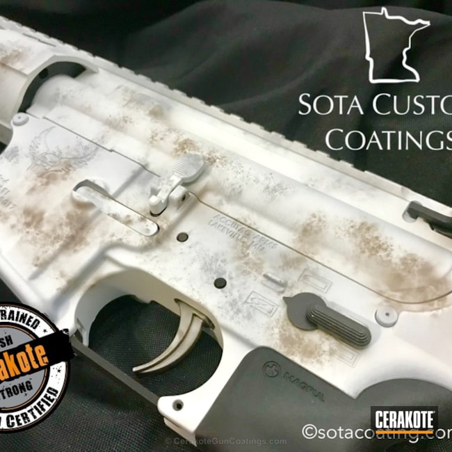 Cerakoted: Snow White H-136,Tactical Rifle,Winter Camo,Accutac Arms