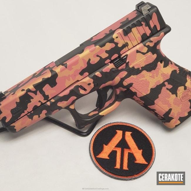 Cerakoted: Bazooka Pink H-244,MultiCam,Graphite Black H-146,Pistol,Glock 23,Glock,Gold H-122