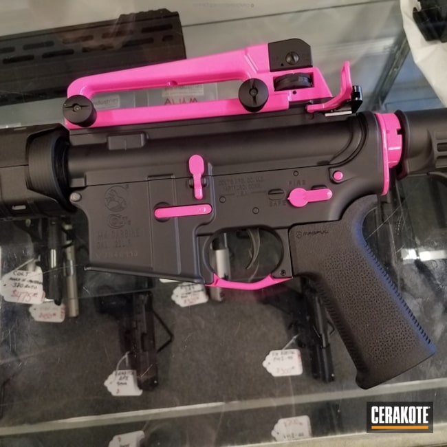 Colt AR with H-224 Sig Pink Accents