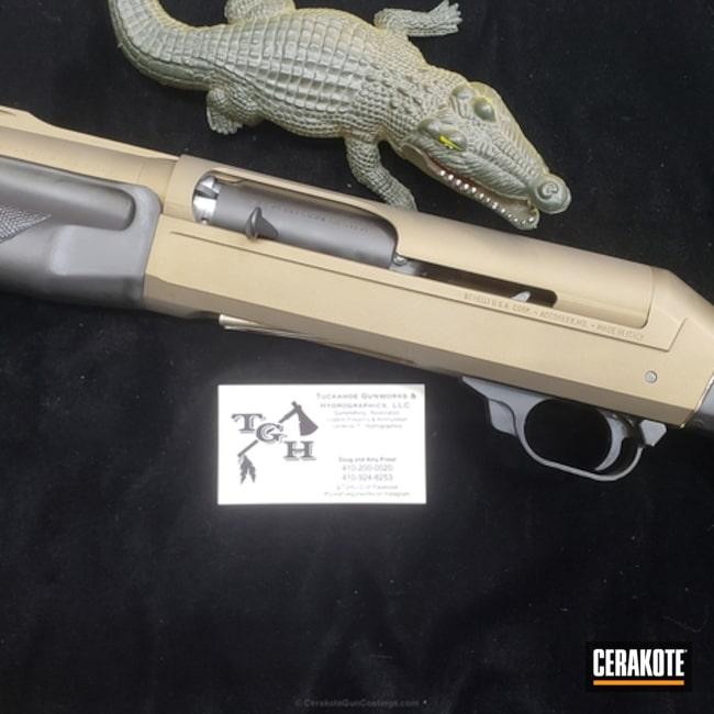 Cerakoted: Shotgun,Graphite Black H-146,Burnt Bronze H-148,Benelli