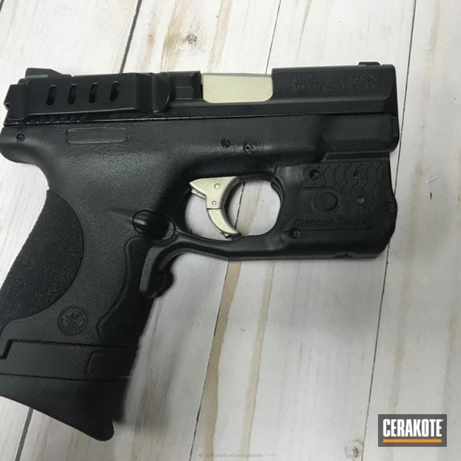 Cerakoted: Graphite Black H-146,Smith & Wesson,Pistol,Bright Nickel H-157,M&P Shield