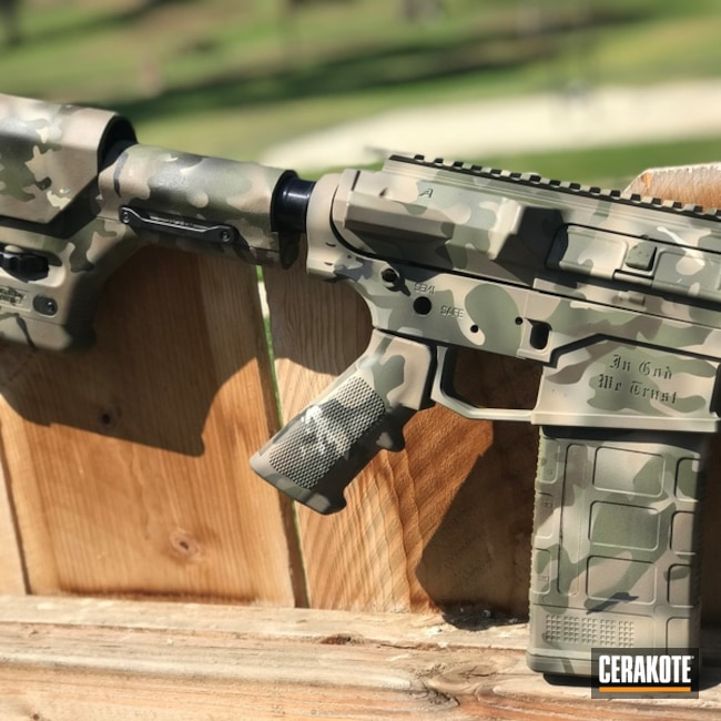 AR-10 Rifle in a Cerakote MultiCam Finish