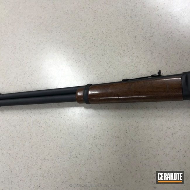 Cerakoted: Winchester,Graphite Black H-146,30-30,Lever Action,Refinished