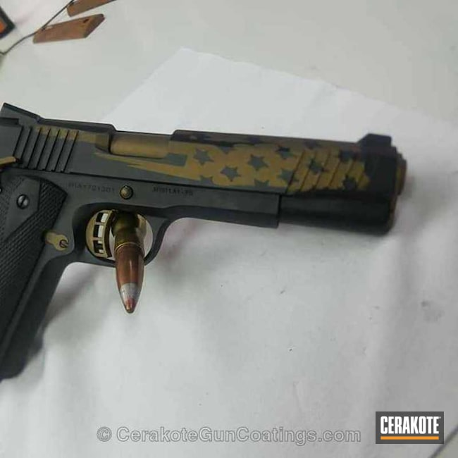 Cerakoted: Burnt Bronze H-148,Armor Black H-190,Pistol,1911