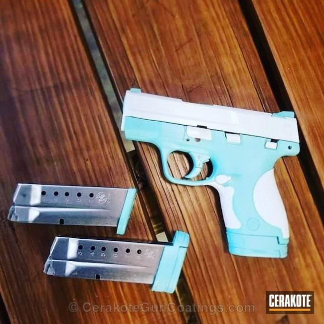 Cerakoted: Bright White H-140,Robin's Egg Blue H-175,Pistol