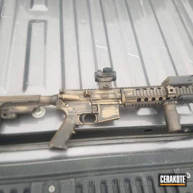 Cerakoted: Battleworn,TROY® COYOTE TAN H-268,Armor Black H-190,Tactical Rifle