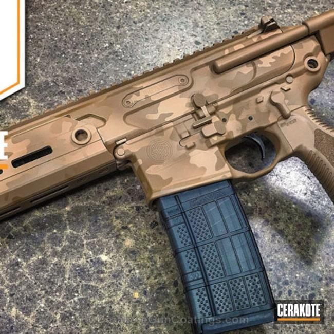 Cerakoted: MAGPUL® FLAT DARK EARTH H-267,MultiCam,Desert Sand H-199,TROY® COYOTE TAN H-268,Tactical Rifle,Sig Sauer