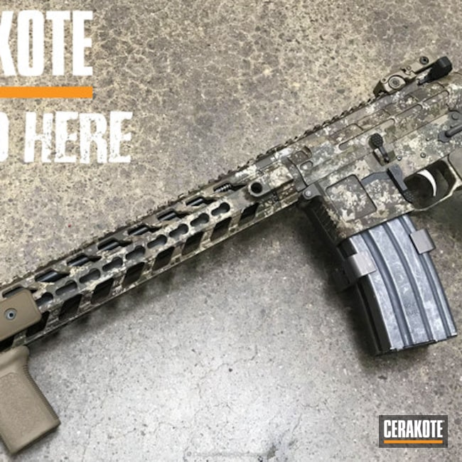 Tactical Rifle in a Custom Camo Finish