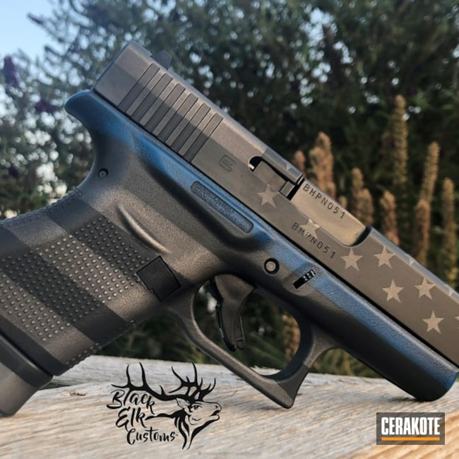 "Thumbnail image for project ""Glock 43 in an American Flag Finish"""