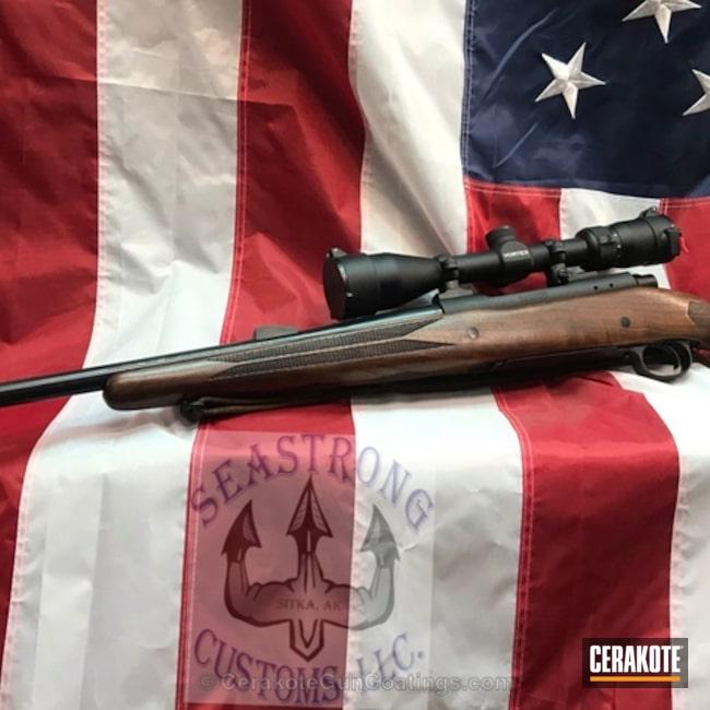 Cerakoted: Bolt Action Rifle,Winchester,Graphite Black H-146,Winchester Model 70