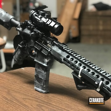 Cerakoted Ar-15 Rifle Done In A Cerakote Digital Camo Finish