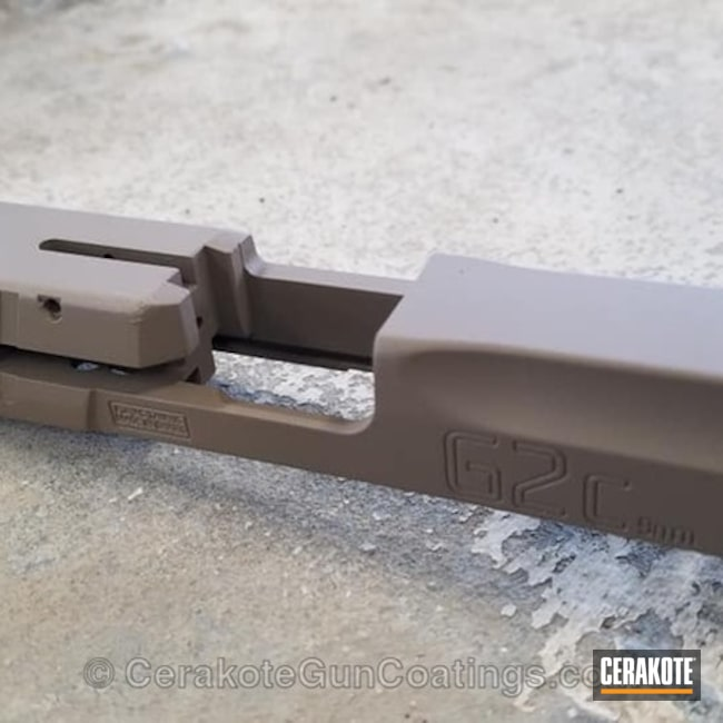 Cerakoted: Gun Parts,Taurus,Flat Dark Earth H-265,Slide