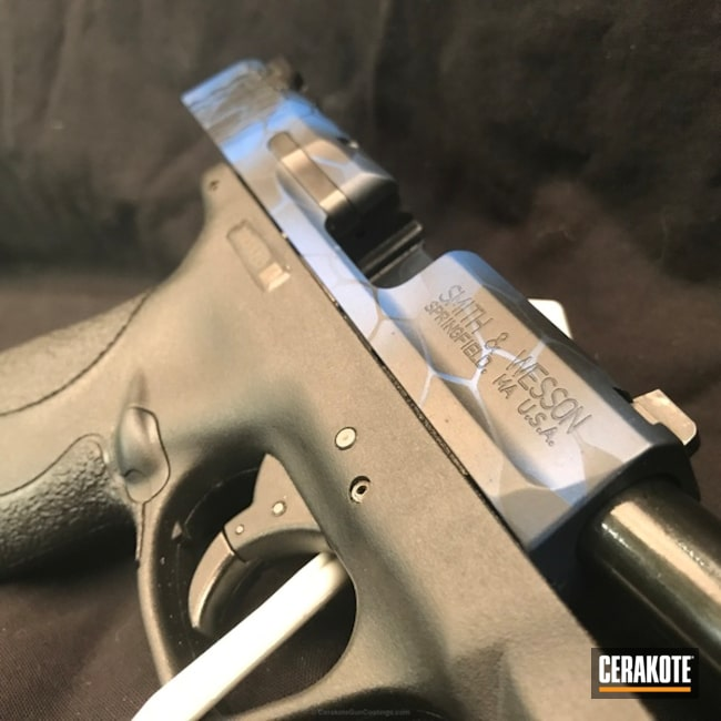 Cerakoted: Kryptek,NRA Blue H-171,Graphite Black H-146,Smith & Wesson,Pistol,Smith & Wesson M&P Shield