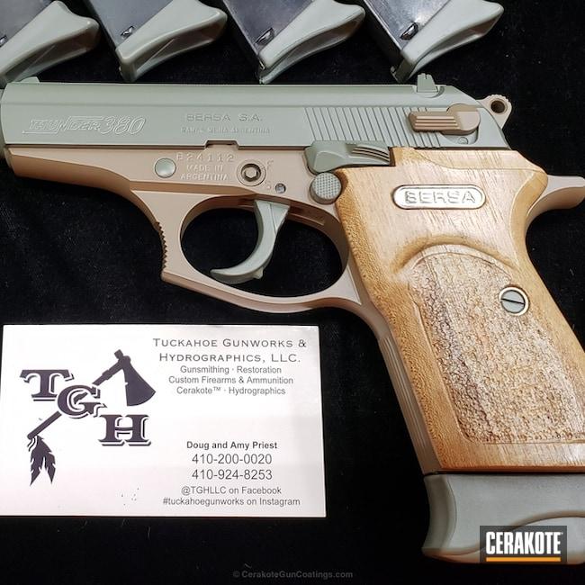 Cerakoted: Jungle E-140,Cerakote Elite Series,Coyote Tan H-235,Bersa,M17 COYOTE TAN E-170,Elite Coyote,Pistol,Jungle E-140G