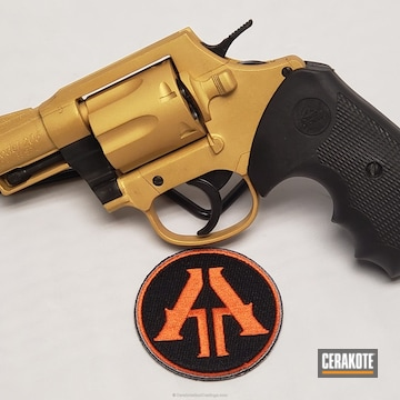 Cerakoted H-122 Gold On This Rock Island Armory 44 Magnum