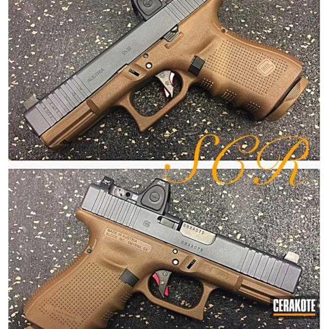 Cerakoted: Glock 19,Graphite Black H-146,Two Tone,Pistol,Glock