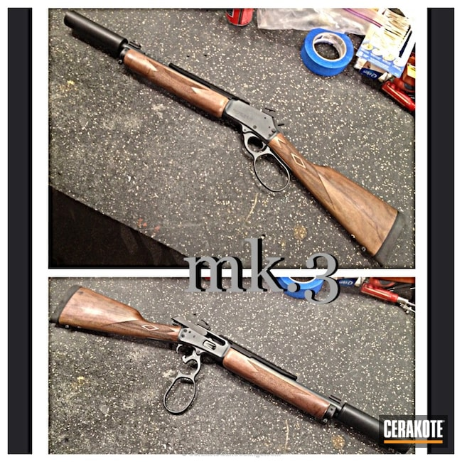 Cerakoted: Rifle,Graphite Black H-146,Lever Action