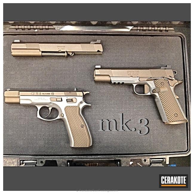 Cerakoted: Burnt Bronze H-148,CZ,Pistols