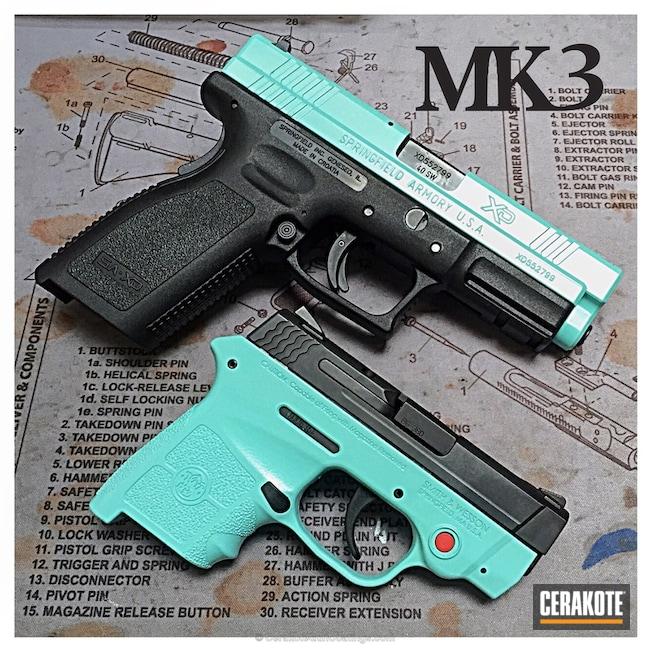 Cerakoted: Robin's Egg Blue H-175,Two Tone,Springfield Armory,Pistols