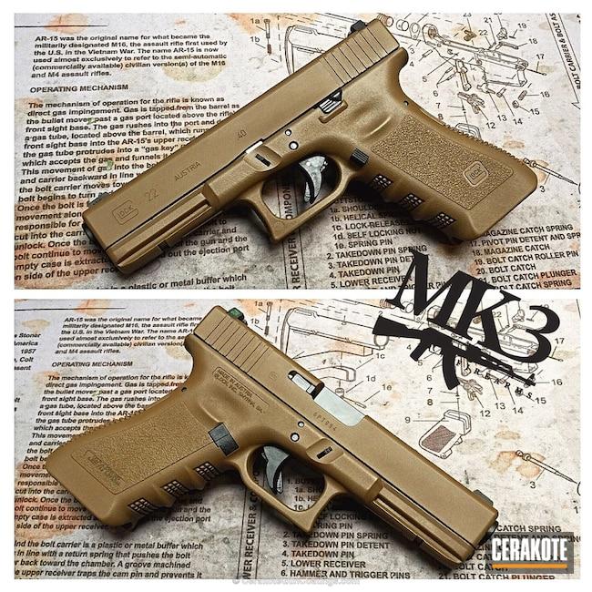 Cerakoted: Solid Tone,Pistol,Glock,Glock 22,GLOCK® FDE H-261