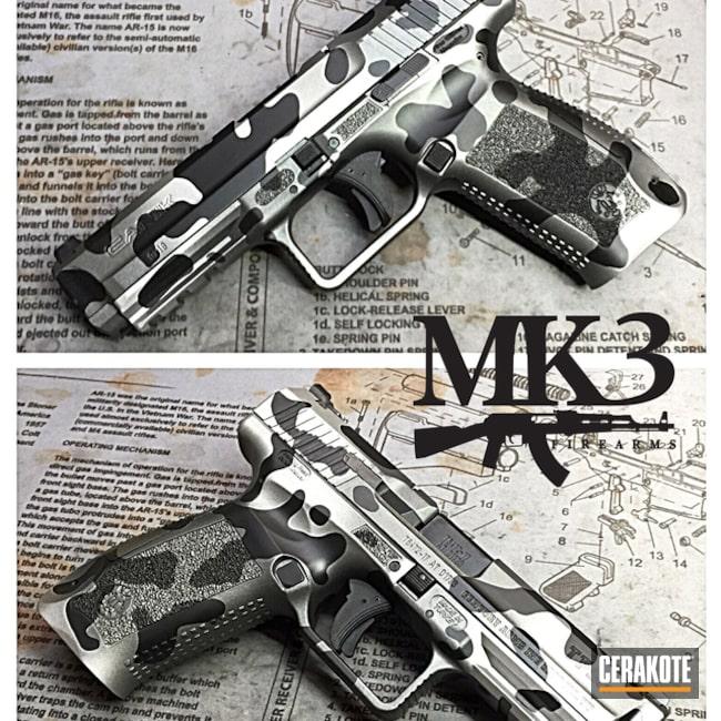 Cerakoted: MultiCam,Satin Aluminum H-151,Pistol