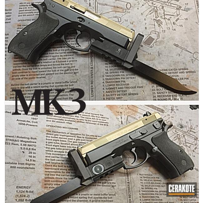 Cerakoted: Desert Sand H-199,Two Tone,CZ 75,Pistol,CZ