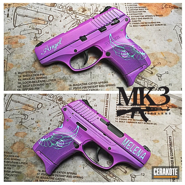 Cerakoted: Ruger,Wild Purple H-197,Pistol