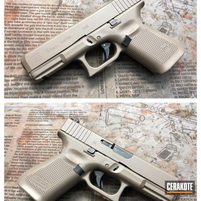 Cerakoted: Glock 19,Graphite Black H-146,Solid Tone,Pistol,Glock