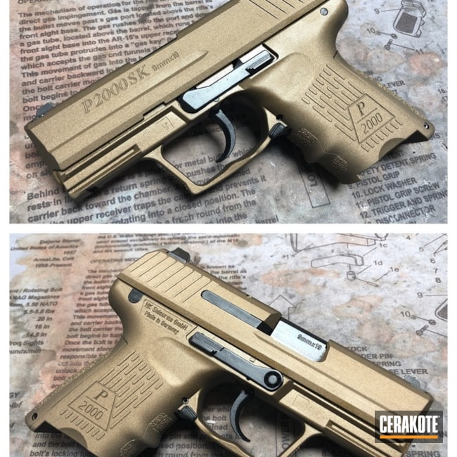 Cerakoted: Burnt Bronze H-148,Solid Tone,Pistol