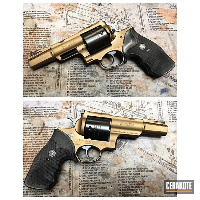 Cerakoted: Ruger,Two Tone,Revolver,Burnt Bronze H-148