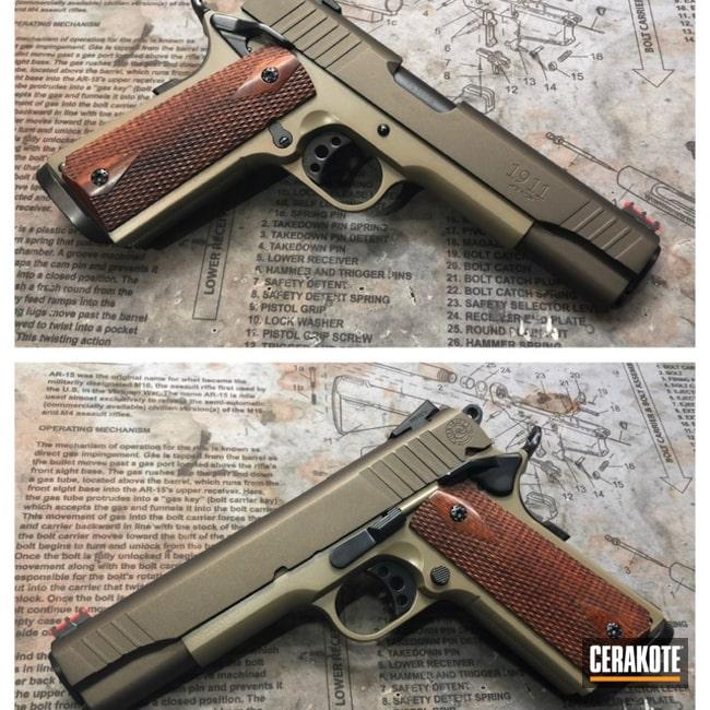 Cerakoted: Taurus 1911,Pistol,1911,Taurus,Flat Dark Earth H-265,Midnight Bronze H-294