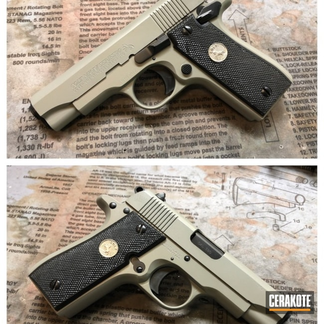 Cerakoted: Colt MK IV,Colt,Pistol,Bull Shark Grey H-214