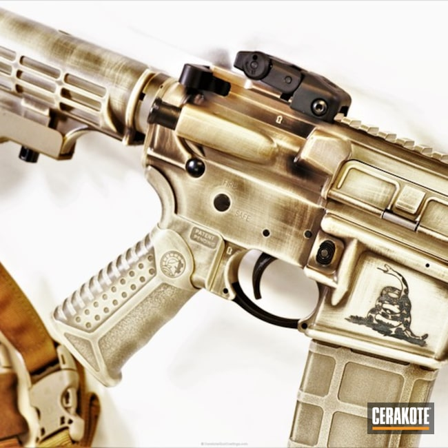 Cerakoted: Custom Mix,Bright White H-140,Ruger,Battleworn,Dont Tread On Me,Gen II Graphite Black HIR-146,Tactical Rifle,BENELLI® SAND H-143,We the people,2nd Amendment,AR-15