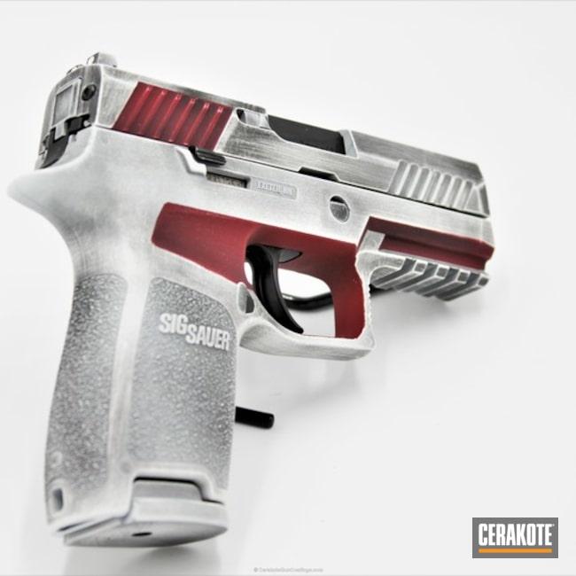 Cerakoted: Sig P320,Bright White H-140,Sig Sauer P320,FIREHOUSE RED H-216,Battleworn,P320,Gen II Graphite Black HIR-146,Crimson H-221,Sig Sauer,Pistols
