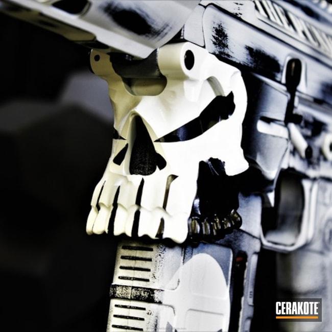 Cerakoted: Bright White H-140,Punisher,Battleworn,Punisher Skull,AR-10,Stormtrooper White H-297,Gen II Graphite Black HIR-146,Tactical Rifle,AR-15