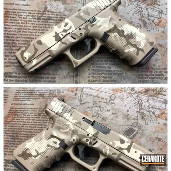Cerakoted: MultiCam,Patriot Brown H-226,Pistol,Glock 23,Glock,Flat Dark Earth H-265,Light Sand H-142