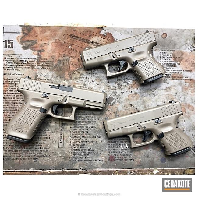 Cerakoted: Graphite Black H-146,Glock,Pistols