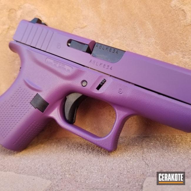 Cerakoted: Glock 42,Bright Purple H-217,Pistol,Glock