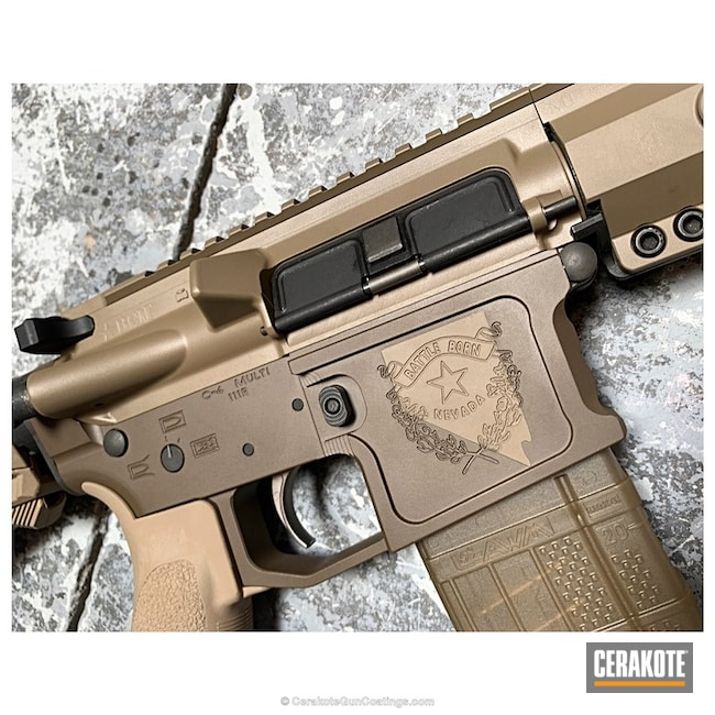 Cerakoted: Two Tone,Patriot Brown H-226,Tactical Rifle,Flat Dark Earth H-265