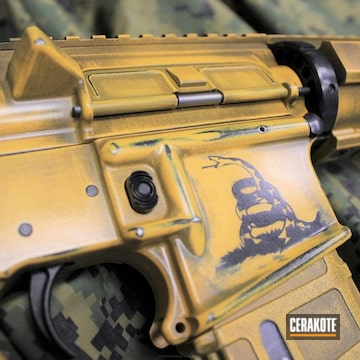 Cerakoted Custom Battleworn Ar-15 Rifle