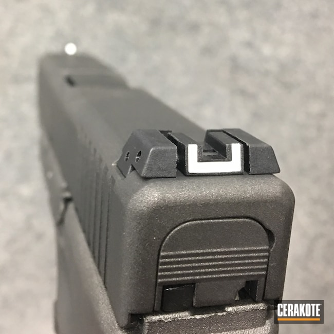 Cerakoted: Color Fill,Tungsten H-237,Pistol,Glock,Glock 27,Cobalt H-112