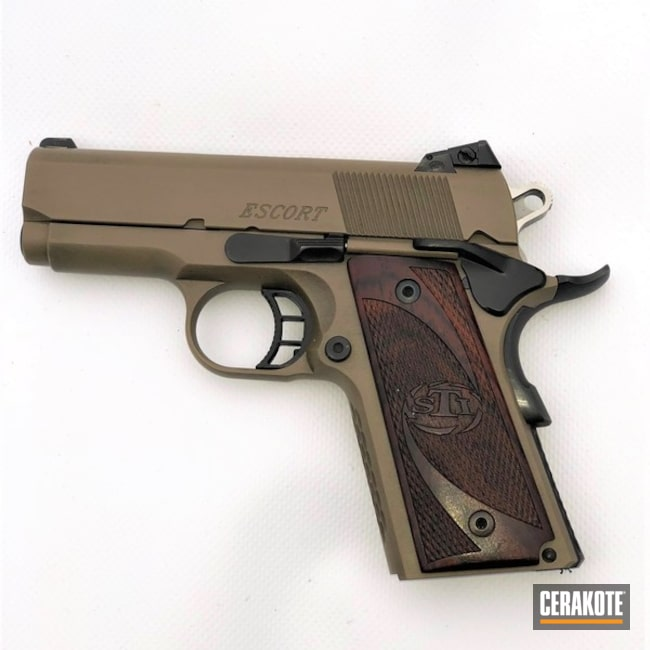 Cerakoted: MAGPUL® FLAT DARK EARTH H-267,STI Escort,Graphite Black H-146,STI,Pistol,1911